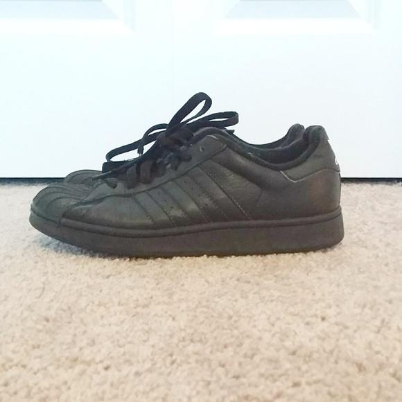 Adidas Superstar II Boys Black Shoes